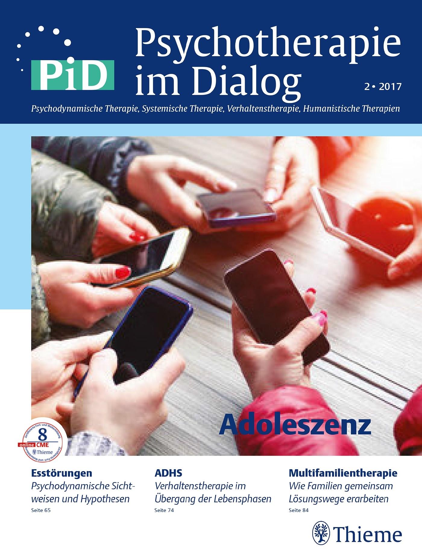 Psychotherapie im Dialog - Adoleszenz | Borcsa / Wiegand-Grefe, 2017 | Buch (Cover)
