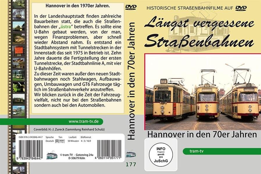 Hannover - Straßenbahnen in den 70er Jahren, 2017 (Cover)