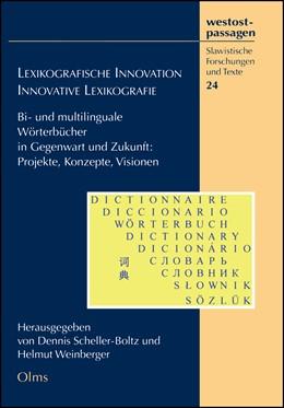 Abbildung von Weinberger / Scheller-Boltz | Lexikographische Innovation - Innovative Lexikographie | 1. Auflage | 2017 | 24 | beck-shop.de