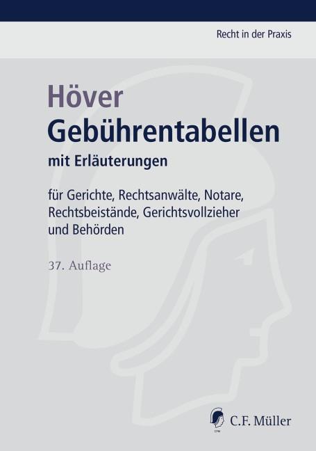 Gebührentabellen | Höver | 37., neu bearbeitete Auflage, 2017 | Buch (Cover)
