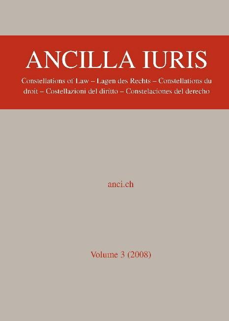 Ancilla Juris | Abegg / Wenger, 2009 | Buch (Cover)