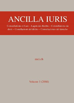 Abbildung von Abegg / Wenger | Ancilla Juris | 2009 | Constellations of Law – Lagen ...