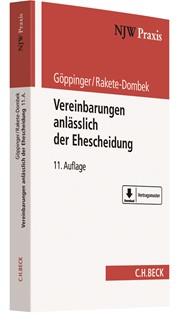Vereinbarungen anlässlich der Ehescheidung | Göppinger / Rakete-Dombek | 11., vollständig neubearbeitete Auflage, 2018 | Buch (Cover)