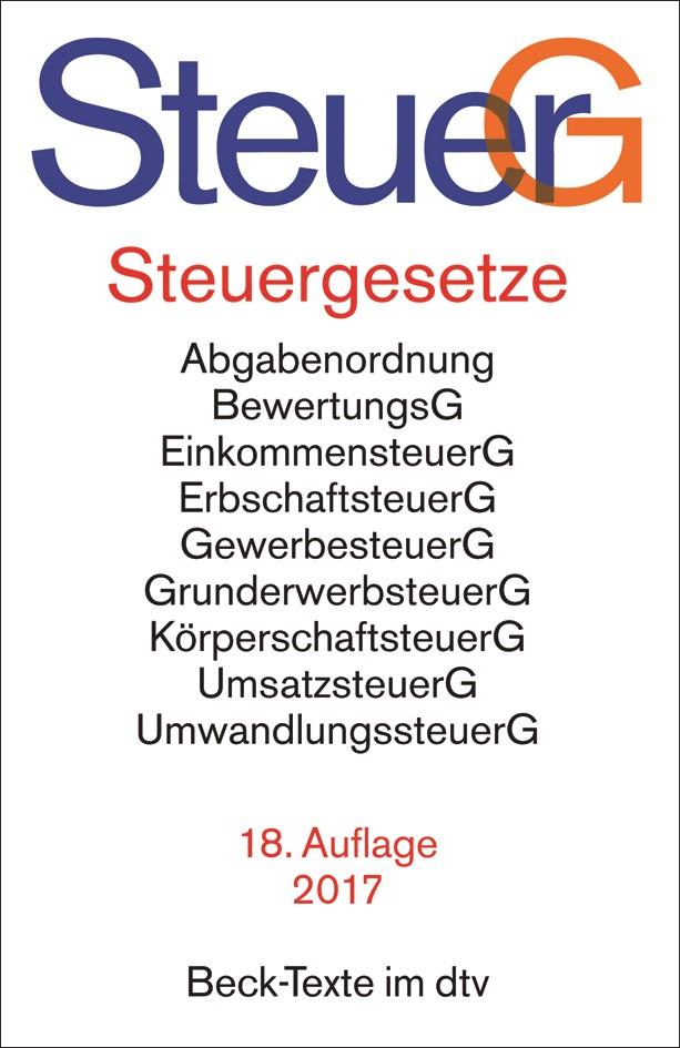 Steuergesetze: SteuerG | Buch (Cover)