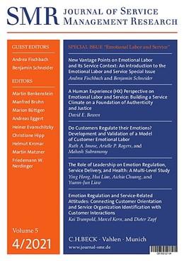 Abbildung von SMR • Journal of Service Management Research | 4. Jahrgang / Volume 4. | 2020 | C.H.BECK in Gemeinschaft mit d...