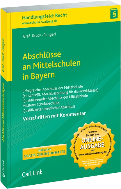 Abschlüsse an Mittelschulen in Bayern   Graf / Krück / Pangerl, 2017   Buch (Cover)