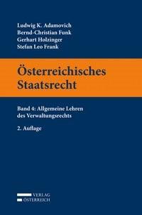 Österreichisches Staatsrecht, Band 4 | Adamovich / Funk / Holzinger | 2. Auflage, 2017 | Buch (Cover)