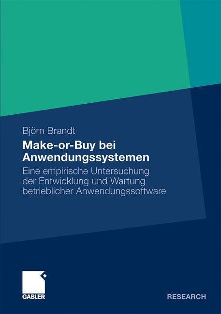 Make-or-Buy bei Anwendungssystemen | Brandt, 2010 | Buch (Cover)