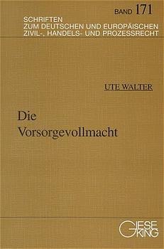 Die Vorsorgevollmacht | Bosch / Sandrock / Gaul, 1997 | Buch (Cover)
