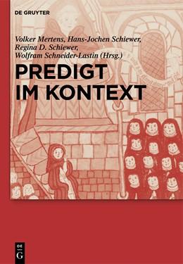 Abbildung von Mertens / Schiewer / Schneider-Lastin | Predigt im Kontext | 2013 | Internationales Symposium am F...