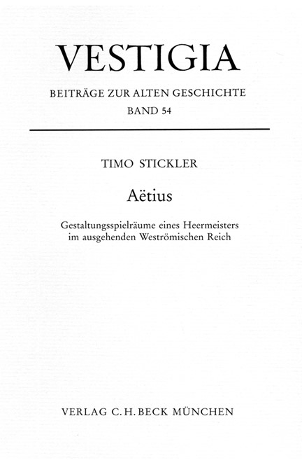 Cover: Timo Stickler, Aetius