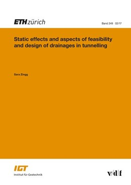 Abbildung von Sara | Static Effects and Aspects of Feasibility and Design of Drainages in Tunnelling | 1. Auflage | 2017 | -
