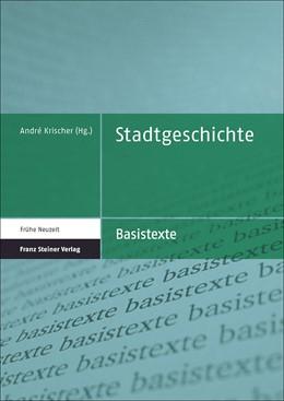 Abbildung von Krischer | Stadtgeschichte | 1. Auflage | 2017 | beck-shop.de