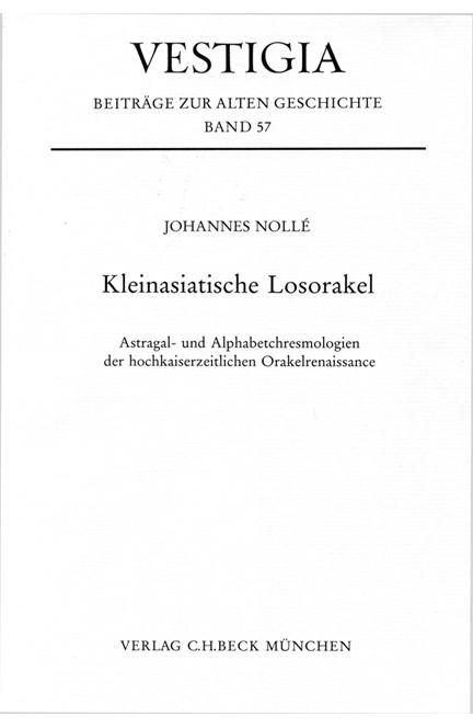Cover: Johannes Nollé, Kleinasiatische Losorakel