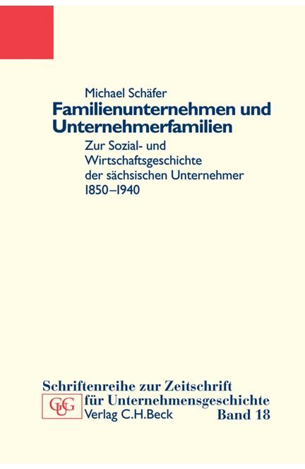 Cover: Michael Schäfer, Familienunternehmen und Unternehmerfamilien