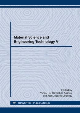 Abbildung von He / Agarwal | Material Science and Engineering Technology V | 1. Auflage | 2017 | Volume 890 | beck-shop.de