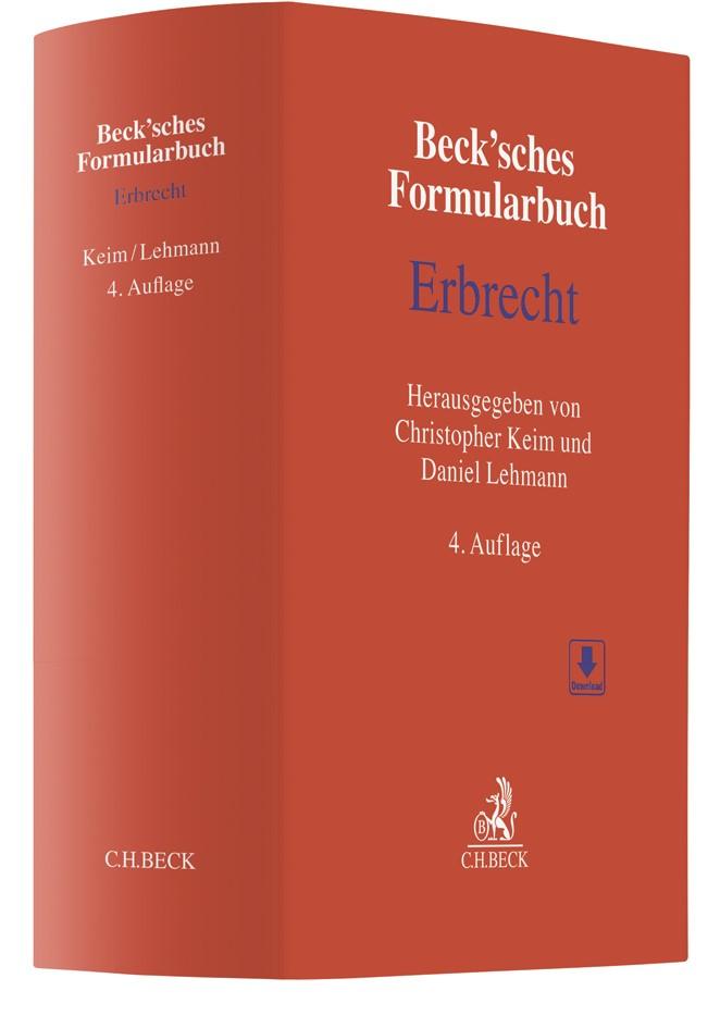 Beck'sches Formularbuch Erbrecht | 4., überarbeitete und erweiterte Auflage, 2018 | Buch (Cover)
