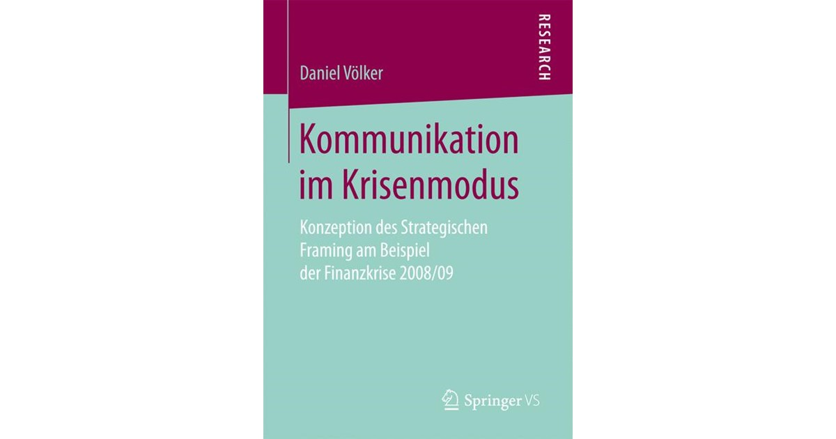 Kommunikation im Krisenmodus | Völker | 1. Aufl. 2017., 2017 | Buch ...