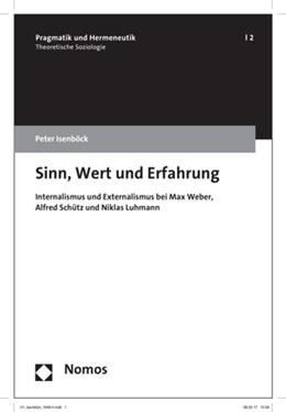 Abbildung von Isenböck | Sinn, Wert und Erfahrung | 1. Auflage | 2017 | beck-shop.de