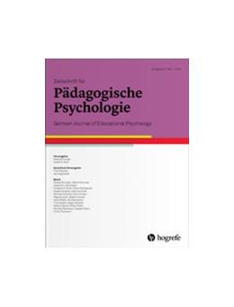 Abbildung von Zeitschrift für Pädagogische Psychologie | 33. Jahrgang | 2019