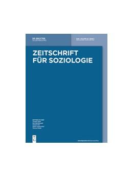 Abbildung von Zeitschrift für Soziologie | 48. Jahrgang | 2019