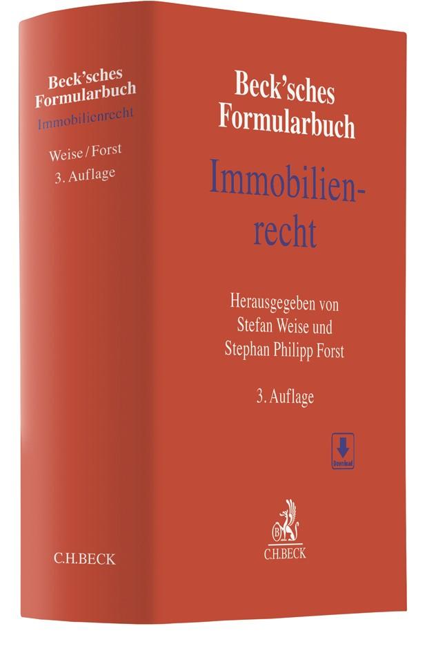 Beck'sches Formularbuch Immobilienrecht | 3., aktualisierte Auflage, 2018 | Buch (Cover)