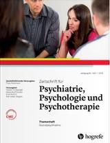 Zeitschrift für Psychiatrie, Psychologie und Psychotherapie | 66. Jahrgang (Cover)
