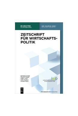 Abbildung von Zeitschrift für Wirtschaftspolitik | 68. Jahrgang | 2019