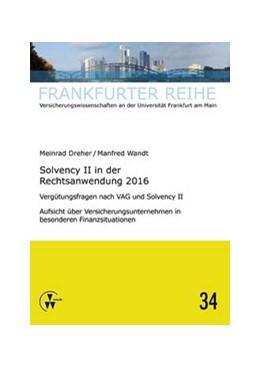 Abbildung von Wandt / Dreher | Solvency II in der Rechtsanwendung 2016 | 1. Auflage | 2017 | 34 | beck-shop.de