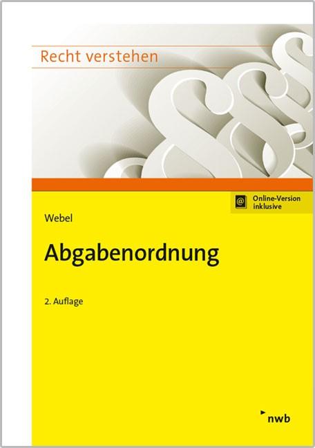 Abgabenordnung   Webel   2. Auflage, 2017   Buch (Cover)
