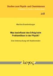 Was beeinflusst den Erfolg beim Problemlösen in der Physik? | Brandenburger, 2016 | Buch (Cover)