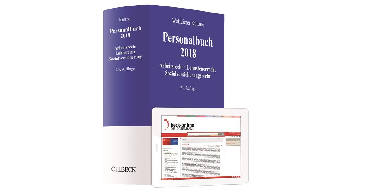 Personalbuch 2018 Küttner 25 Vollständig Neubearbeitete