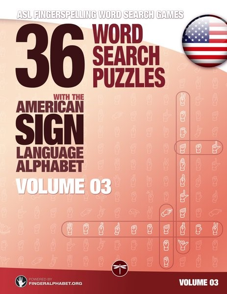 36 Word Search Puzzles with the American Sign Language Alphabet - Volume 03, 2017 | Buch (Cover)