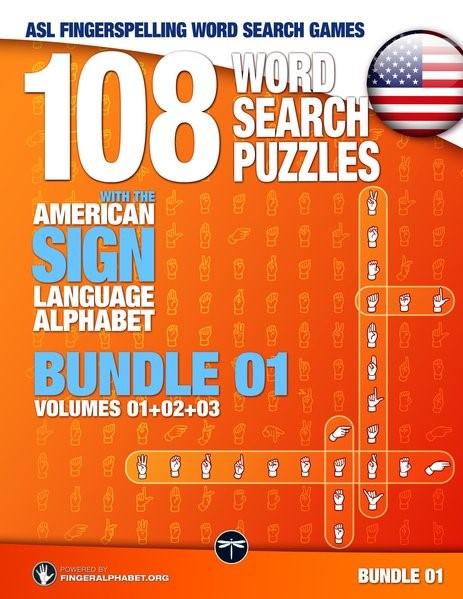 Abbildung von 108 Word Search Puzzles with the American Sign Language Alphabet, Volume 04 (Bundle Volumes 01+02+03) | 2017