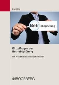 Einzelfragen der Betriebsprüfung | Kaligin, 2017 | Buch (Cover)