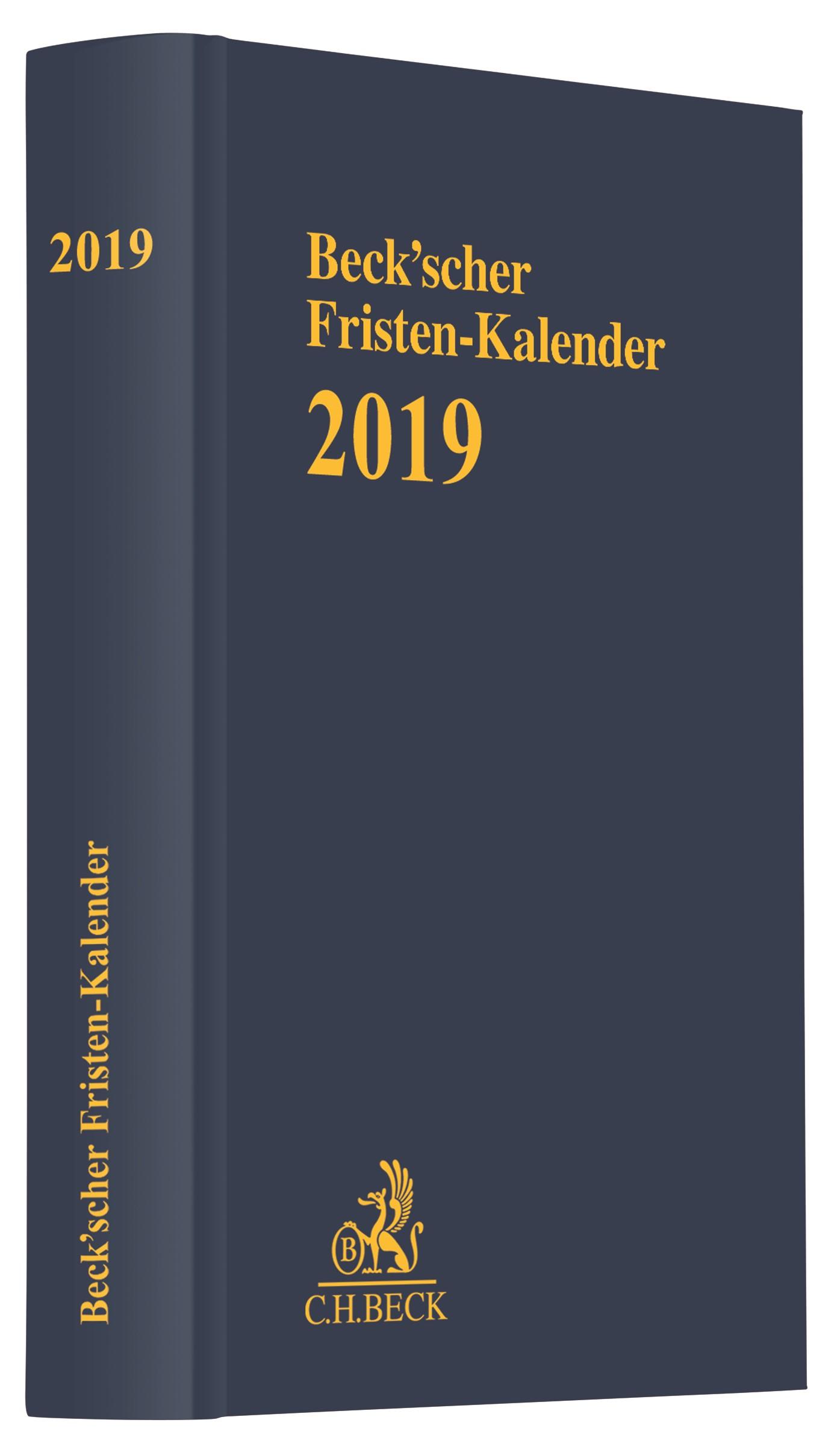 Beck'scher Fristen-Kalender 2019, 2018 | Buch (Cover)