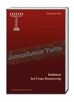 Abbildung von Will | Rabbinat bei Franz Rosenzweig | 2017
