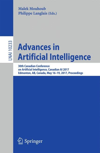 Advances in Artificial Intelligence | Mouhoub / Langlais, 2017 | Buch (Cover)