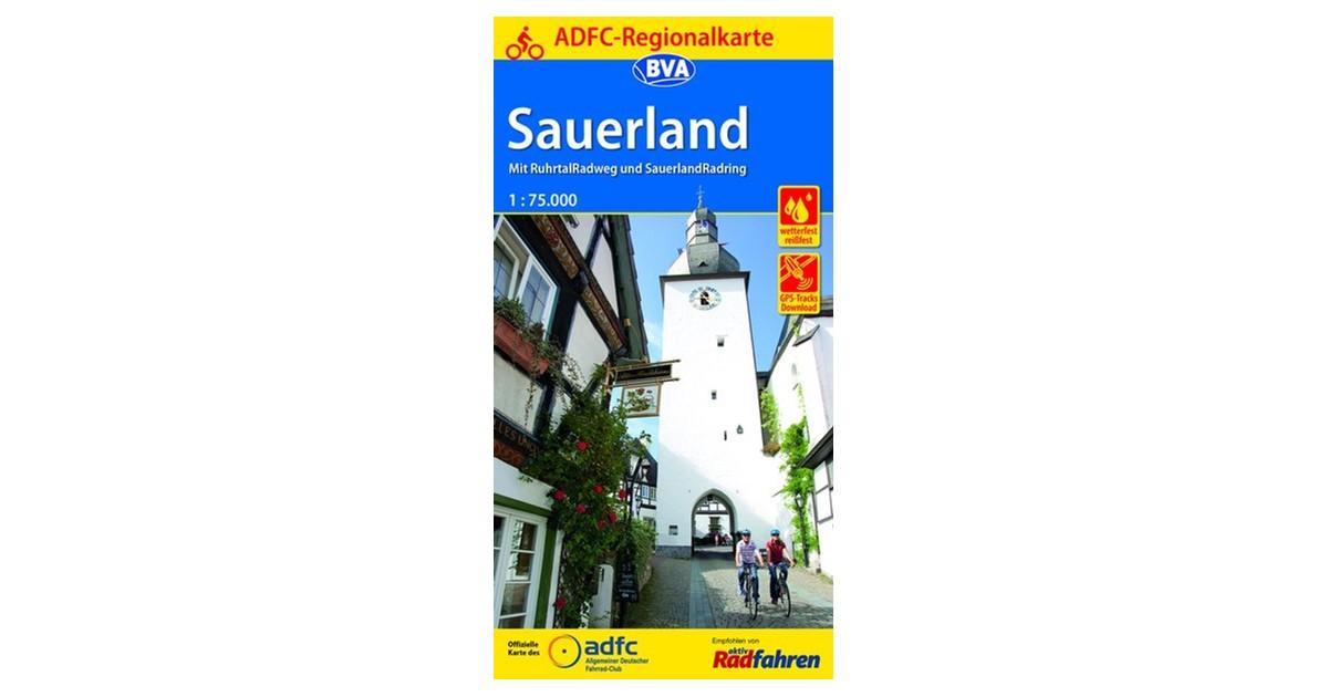 Entfernungsmesser Hellweg : Adfc regionalkarte sauerland mit tagestouren vorschlägen 1:75.000