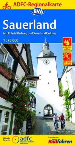 Abbildung von ADFC-Regionalkarte Sauerland mit Tagestouren-Vorschlägen, 1:75.000 | 4. Auflage | 2017 | Mit RuhrtalRadweg und Sauerlan...