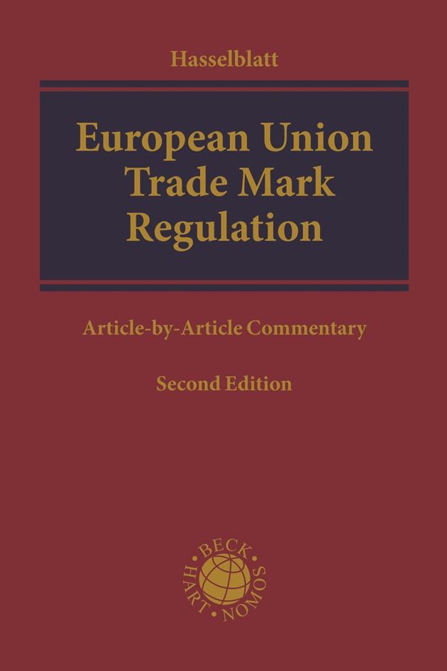 European Union Trade Mark Regulation | Hasselblatt | 2. Auflage, 2018 | Buch (Cover)