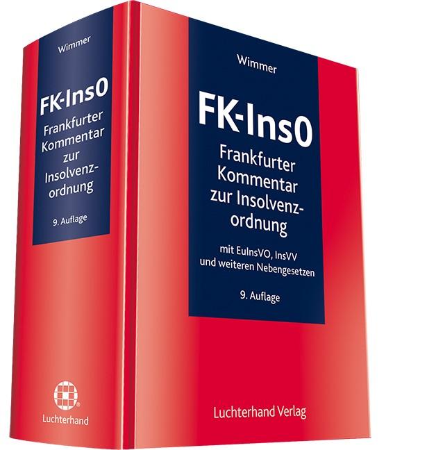 FK-InsO - Frankfurter Kommentar zur Insolvenzordnung | Wimmer | 9. Auflage, 2017 | Buch (Cover)