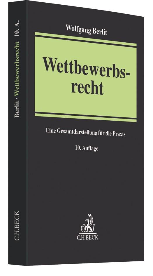 Wettbewerbsrecht | Berlit | 10., neubearbeitete Auflage, 2017 | Buch (Cover)