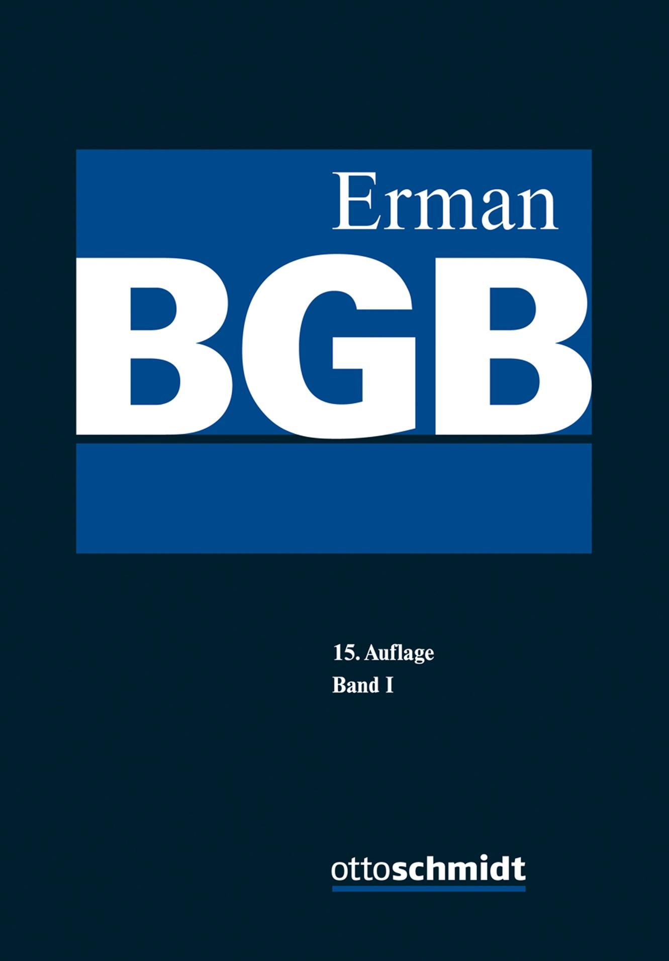 BGB | Erman | 15., neu bearbeitete Auflage, 2017 | Buch (Cover)