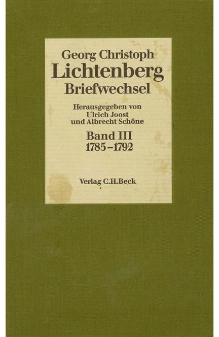 Cover: Georg Christoph Lichtenberg, Lichtenberg, Briefwechsel: 1785-1792