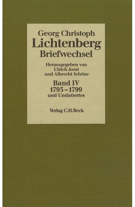 Cover: , Lichtenberg, Briefwechsel: 1793-1799