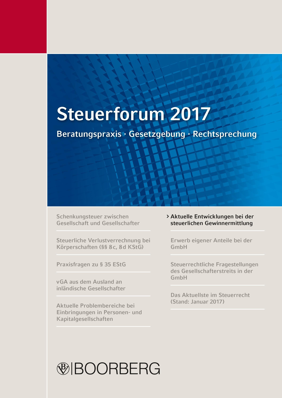 Steuerforum 2017 Beratungspraxis · Gesetzgebung · Rechtsprechung | Kaminski | 1. Auflage, 2017 | Buch (Cover)