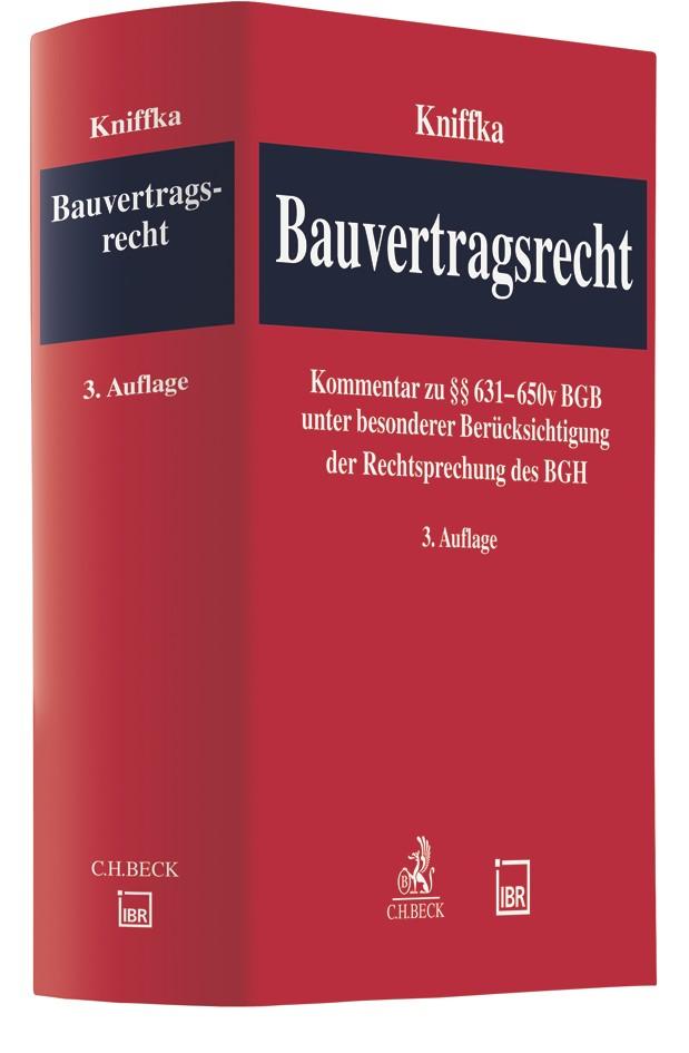 Bauvertragsrecht | Kniffka | 3. Auflage, 2018 | Buch (Cover)