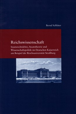 Abbildung von Schlüter | Reichswissenschaft | 2004 | Staatsrechtslehre, Staatstheor... | 168