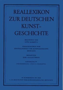 Abbildung von Reallexikon Dt. Kunstgeschichte 97. Lieferung: Firstbekrönung - Fisch II: Fischarten   1. Auflage   1988   beck-shop.de